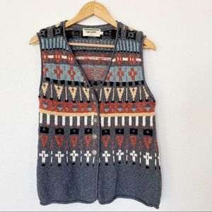 Vintage Soft Knitted Southwestern Over Sized EUC S